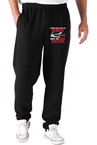 T-Shirtshock Jogginghose schwarz TRK0677 Redneck Zombie Gr. M, Schwarz