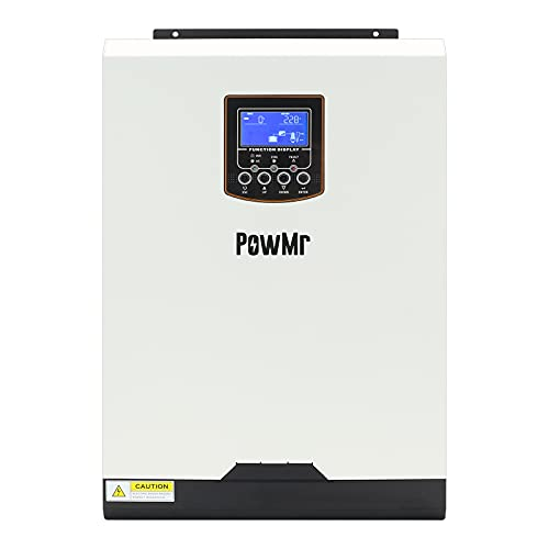 PowMr 5000W Hybrid Inverter 48V, Pure Sine Wave Inverter 48V DC to 220V-230V AC with 50A PWM Solar Controller,Supply Multi-Function Hybrid Inverter Support Utility/Generator/Solar Energy