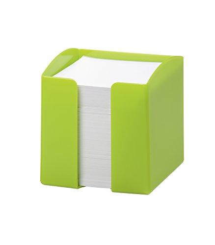 Durable 1701682020 - Portamemo Trend, 800 Foglietti Bianchi, Formato 90 x 90, Apertura sul Lato Frontale, 100 x 105 x 100 mm, Verde