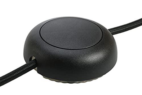 EHMANN 2420x0800 Elektronischer Schnurdimmer T24.08 schwarz, Phasenanschnitt, 230V, 50Hz, Leistung: LED 3-55 W, 5-150 W/VA