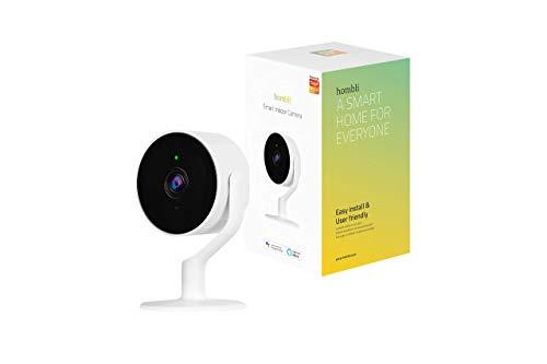 Hombli Smart Indoor Kamera (1080P Full HD, Bewegungserkennung, Nachtsicht, 2-Wege-Audio, 130° Betrachtungswinkel, SD-Karte möglich, Kompatibel mit Alexa)