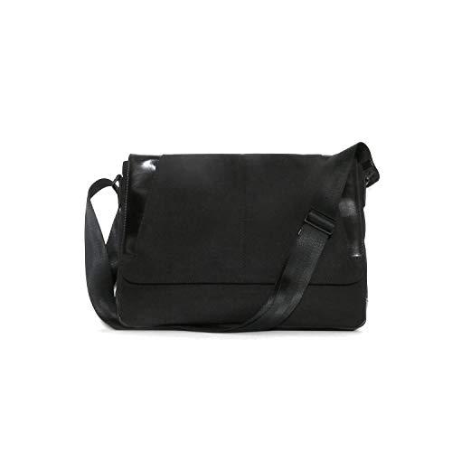 Boconi Collins Leather Slim Messenger Bag in Black