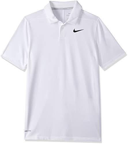 Nike Jungen Poloshirt Dri-Fit Victory, White/Black, L, AA3334-100