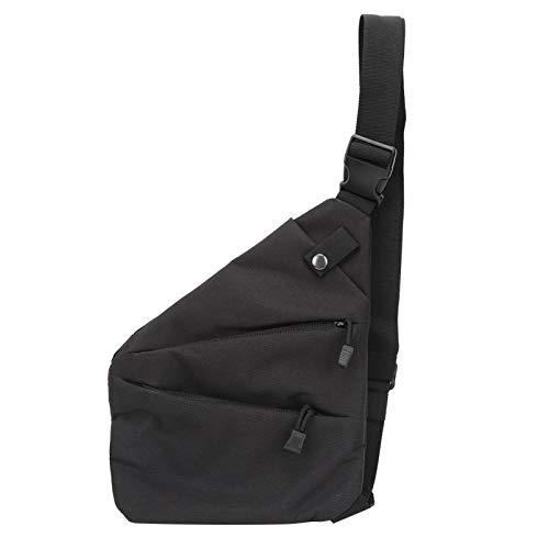 FOLOSAFENAR Bolso de Nylon para tácticas al Aire Libre de Color Elegante, para Caminar, para Aventuras al Aire Libre(Black)