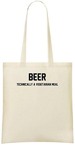 Bier Technisch Vegetaarian Mahlzeit - Beer Technically Vegetaarian Meal Custom Printed Shopping Grocery Tote Bag 100% Soft Cotton Eco-Friendly & Stylish Handbag For Everyday Use Custom Shoulder Bags