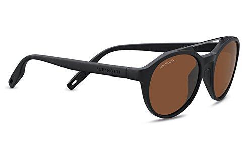Serengeti Eyewear Erwachsene Sonnenbrille Leandro, Satin Black, Medium, 8592