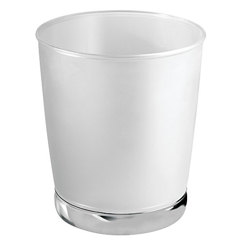 Price comparison product image iDesign York Rubbish Bin - Clear Frosted / Chrome