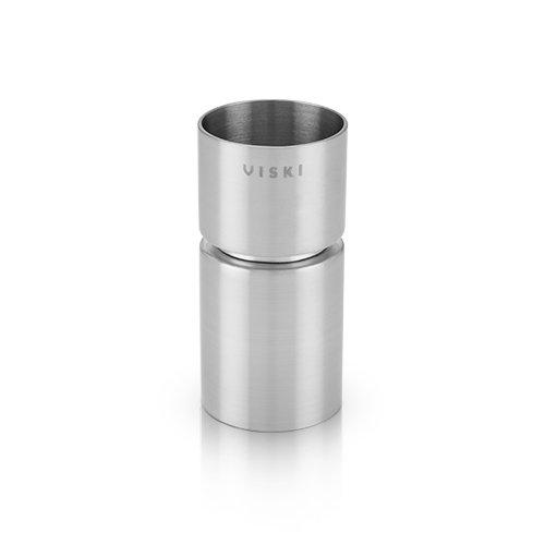 Viski Matte Modern Jigger, Silver
