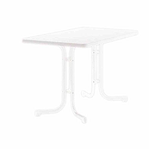 SIEGER 133/W Table de Jardin Acier Blanc 115 x 70 x 72 cm