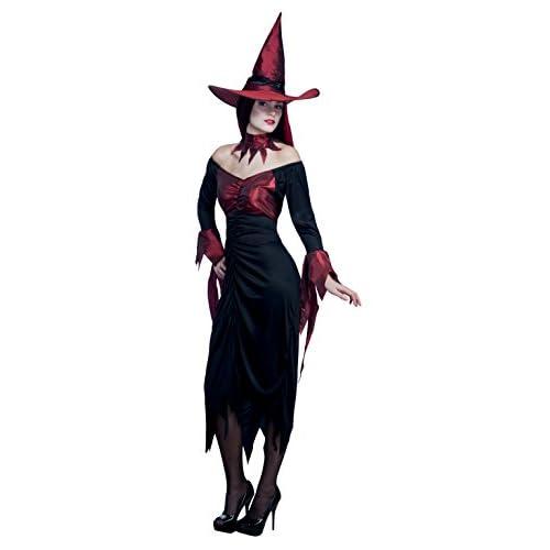 Boland- Costume Adulto Strega Wicked Witch, Rosso/Nero, M, 79061