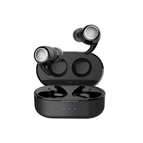 HiFuture OlymBuds - TWS Earbuds with Wireless Charging Case (500 mAh), Comfort & Secure Fit, Soft BASS Sound, Upto 20...