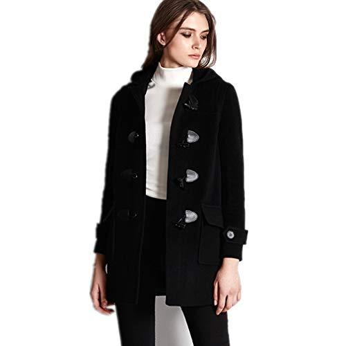 GVCTⓇ Anty-klakson klamra płaszcz damski z kapturem jesień i zima nowy college wiatr wełniany długi płaszcz kod M