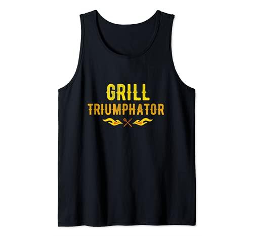 Grill Triumphator für Griller BBQ echte Männer Tank Top