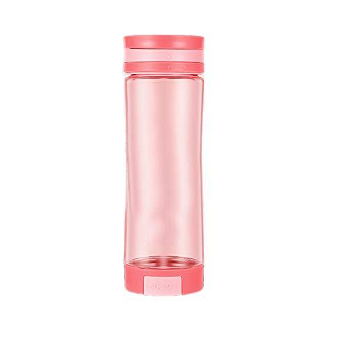 GONGYBZ Taza de Agua Espacial Botella Deportiva al Aire Libre portátil para Hombres y Mujeres Estudiantes Adultos Fitness Soporte para teléfono móvil Taza 600 ml