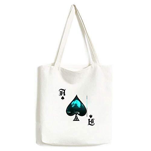 Ocean Fish Taucher Menschen Natur Bild Handtasche Craft Poker Spaten waschbare Tasche