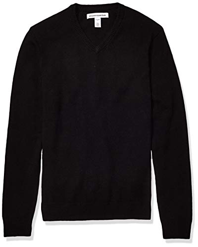 Amazon Essentials Men's Midweight V-Neck Sweater, Black, XX-Large