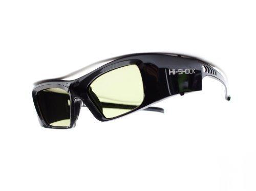 Hi-SHOCK RF Pro 'Black Diamond'   Gafas 3D-RF para proyectores 3D: SONY, JVC, EPSON   compatibles con SONY VPL-HW65ES, HW45ES, VW300ES, VW320ES, VW520ES, VW500ES, VW1000, TDG-BT500A, AD025-RF-X1 / JVC DLA-X 7000, DLA-X 500R, DLA-RS 400, DLA-X 9000, DLA-X 5000, PK-AG3, PK-EM2   incluye una extensa gama de accesorios cobertura de garantía de 3 años [Gafas de obturador   120 Hz   recargables   39g   FHD3D RF   Negro]