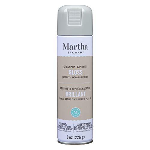 Martha Stewart Paint & Primer 8oz Spray Paint, Gloss Wet Cement 8 Ounce