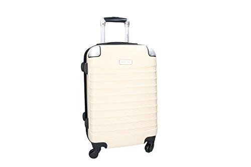 Maleta rígida PIERRE CARDIN beige mini equipaje de mano ryanair 4 ruedas