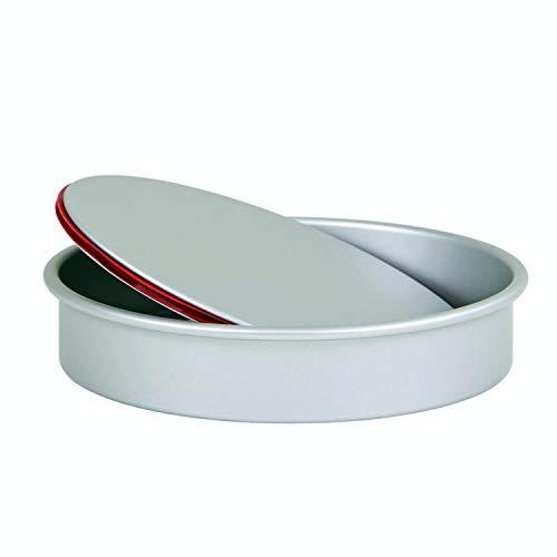 Pushpan - Teglia rotonda con fondo removibile, a prova di perdite; Struttura in alluminio anodizzato argentato. 5cm Deep 23cm (9') Diameter In alluminio.