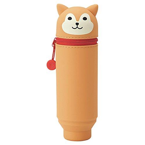 "LIHIT LAB. PuniLabo Stand Up Pen Case (Pen Holder), Dog, 2.4"" x 7.8"" (A7712-2)"