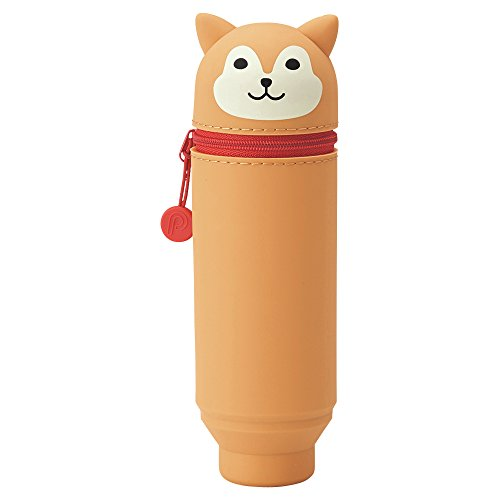 LIHIT LAB PuniLabo Stand Up Pen Case (Pen Holder), 2.4' x 7.8', Shiba Dog (A7712-2)