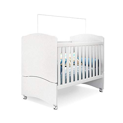 Berço que Vira Mini Cama Certificado pelo Inmetro Pérola Branco - PN Baby