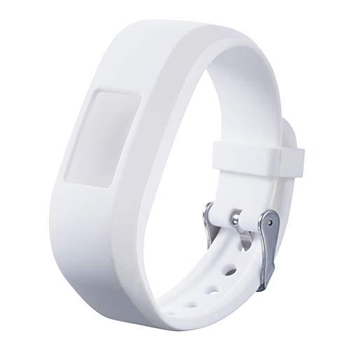LXF JIAJU Smart Watch Strap Pure Silicone Watch Band Strap Reemplazo para Garmin VIVOFIT para JR JR2 Junior Fitness (Color : White)