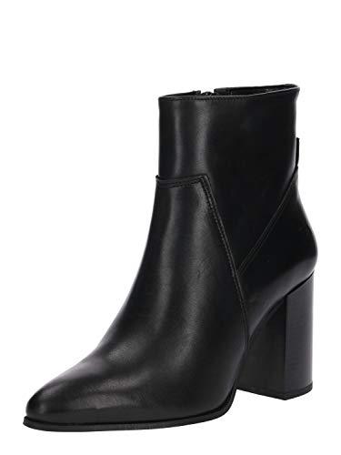 BULLBOXER Damen Stiefeletten, Frauen Ankle Boots, Ladies feminin elegant Women's Women Woman Freizeit leger Stiefel Bootie,Schwarz,39 EU / 6 UK