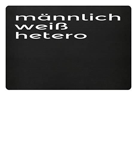 männlich, weiß, hertero | Männer Wikinger Germanen Oldschool Alte Werte Werteverfall Mann - Fußmatte