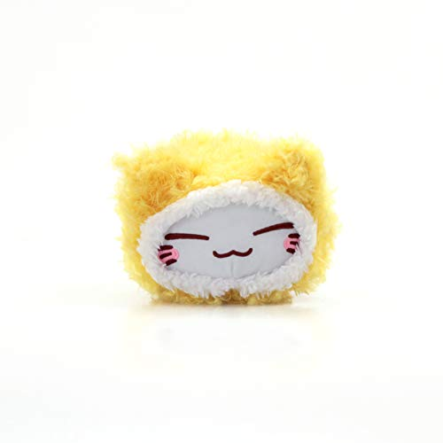Meralens Funnylens schwarz Nemu Neko Nemo Neko Kuscheltier Katze - Manga Anime Otaku Kawaii Stofftier - Plüschtier Plush Cat Katze Merchandise zum Original aus Japan Höhe 25cm und Breite 34cm