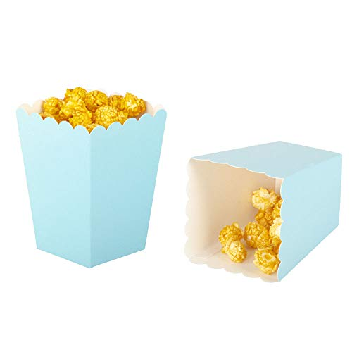 Great Price! Blue Mini Popcorn Boxes,Pack of 36