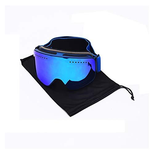 Exterior Gafas de esquí Gafas de Nieve Snow Sports Snowboard Goggles Anti-Niebla UV400 Protector Snowmobile Mask para Hombres, Mujeres y jóvenes (Color : FJ037 H BD)