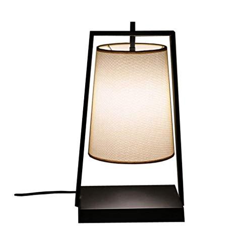 GUOCAO Luz Iluminación decorativa, Reading lámpara- de noche y lámparas de mesa lámpara de mesa de hierro Tela lámpara de mesa Salón Comedor simple Sitio de estudio moderno dormitorio lámpara de cabec