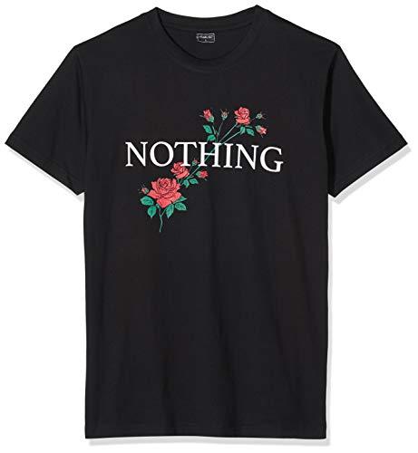 Mister Tee Herren Nothing Rose T-Shirt, Black, M