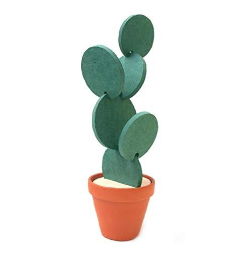 shentaotao Cactus Cactus en Forma de Copa Cerveza DIY Posavasos Posavasos Redonda decoración de la Tabla del Aislamiento de Calor Antideslizante Creativo del cojín de Ministerio del Interior