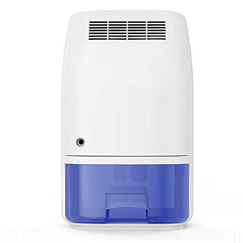 Deumidificatore, piccolo deumidificatore per uso domestico 160 piedi quadrati, deumidificatore silenzioso portatile e compatto con capacità di 700 ml, adatto per seminterrato, camera da letto, bagno
