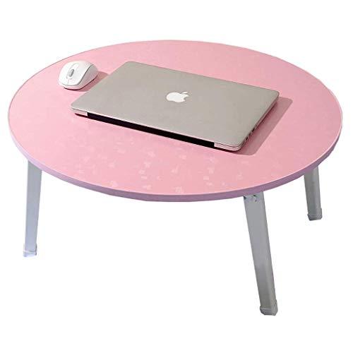 KANJJ-YU Cama plegable para computadora portátil con mesa pequeña con ventana de bahía mesa perezosa mesa redonda Tatami escritorio cama portátil