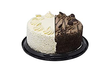 """Our Specialty 8"""" Double Layer Black & White Cake, 42 Oz (FROZEN)"""