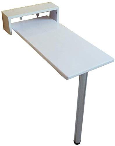 Lazy Table - Mesa plegable de pared con hojas de gota para ordenador para niños, mesa de cocina, mesa de comedor, color blanco, 10 ahorra espacio, 85 x 60 cm
