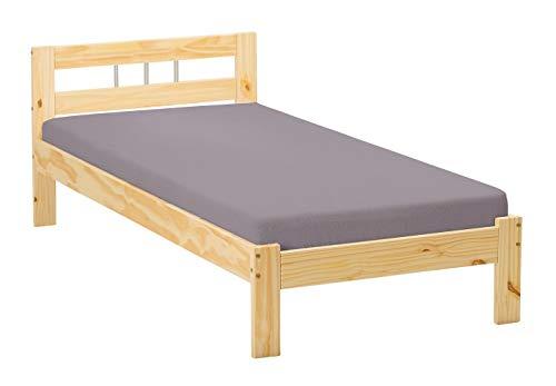 Inter Link Bett Bed Kinderbett Jugendbett Gästebett Einzelbett modernes Bett Bio Kiefer massivholz Natur lackiert