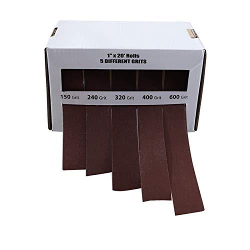 LITAO-XIE, LT-Discs, 1set 150-600 Schleifpapier der Körnung 25mm * 6M Trockenmahlen Emery Schleifband Drawable Sand Papierrolle for Metall, Glas, Holz Poliermittel (Größe : GS005 5)
