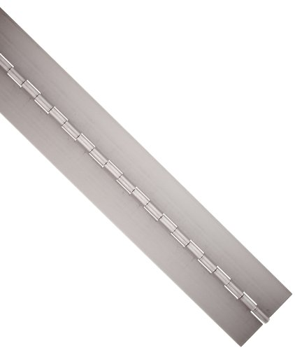 Steel Continuous Hinge without Holes, Unfinished, 0.072' Leaf Thickness, 1-1/2' Open Width, 1/4' Pin Diameter, 1' Knuckle Length, 4' Long (Pack of 1)