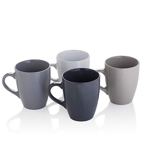 6x Mug Aqua 400mL Bevande Coffee Mugs Cups Hot Chocolate Cup Cafe Drinks
