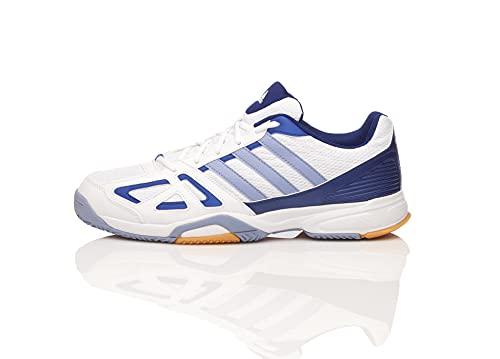 adidas Herren Speedcourt 6W Sportschuh Hallenschuh, White/Navy/Light Blue (White/Navy/Light Blue, Numeric_48)