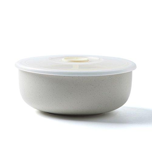 Lhl Cuenco, fiambreras de cerámica con Tapa, Horno de microondas, Sellado, Especial,...