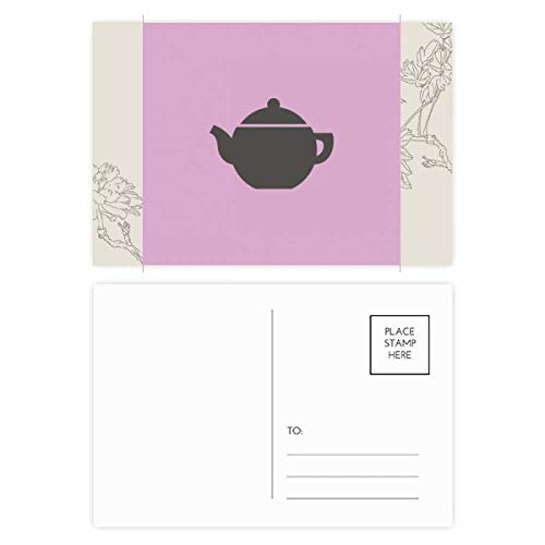 DIYthinker Theepot China Patroon Bloem Postkaart Set Thanks Card Mailing Side 20 stks 5.7 inch x 3.8 inch Multi kleuren