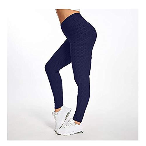 WSC Pantalones De Yoga Plisados para Mujer Hip-levantando Los Pantalones De Yoga Estirar(Size:XXXL,Color:H)