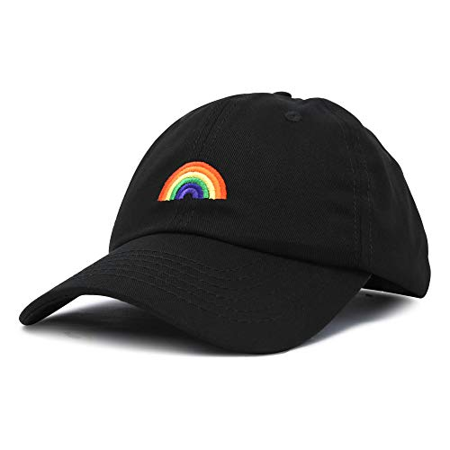 DALIX Rainbow Baseball Cap Womens Hats Cute Hat Soft Cotton Caps in Black
