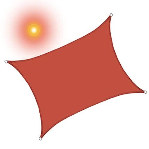 ALBN Triangle Sun Shade Sail Rechteck Sun Shade Canvas Rotes wasserdichtes Sonnenschutzmarkise 90% UV-beständiges atmungsaktives Patio Pond Garden Sail